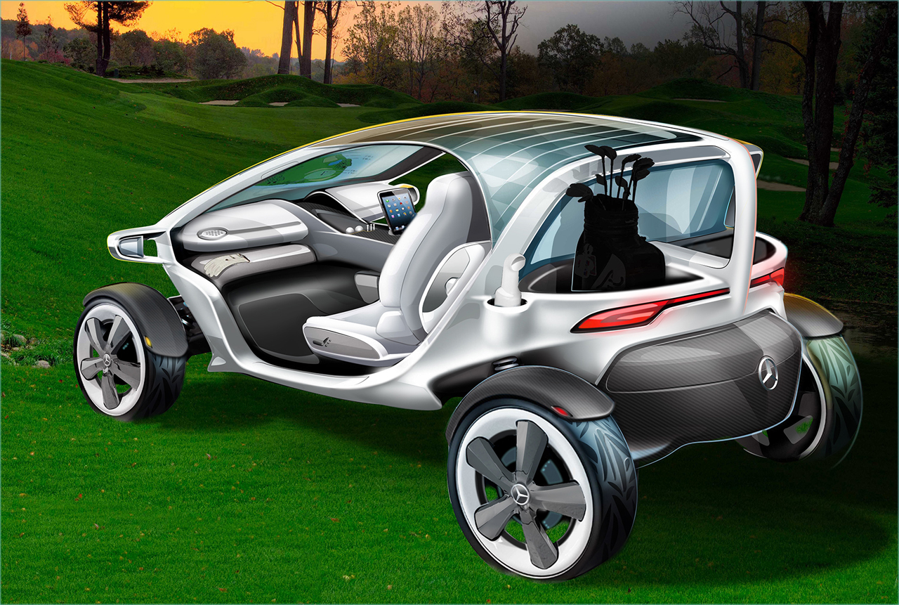 Mercedes knows its buyers, designs golf cart of the future ...