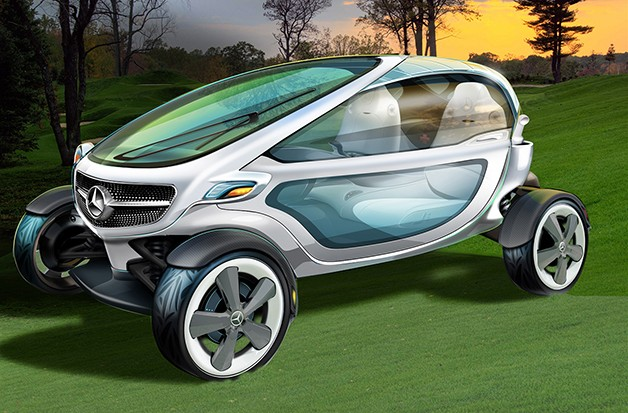 Mercedes-Benz Vision golf cart concept - rendering - front three-quarter view