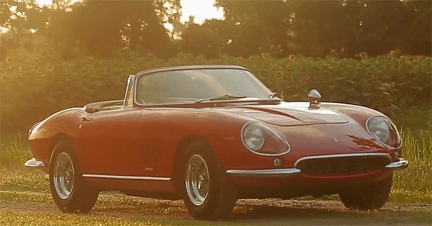 1967 275 GTB/4*S N.A.R.T. Spyder - video screencap - front three-quarter view, top down