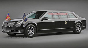 Cadillac XTS-based presidential limousine rendering