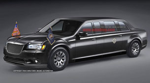 Chrysler 300-based presidential limousine rendering