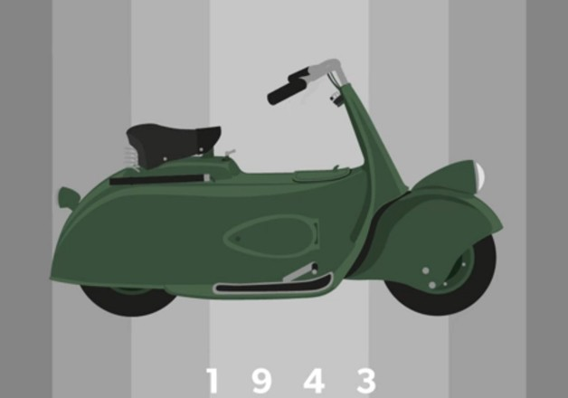 Take a visual walk through the history of Vespa - Autoblog