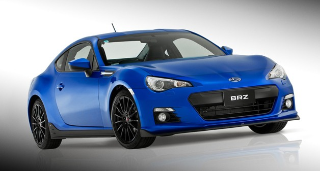 2013 Subaru BRZ Sports Pack - Australia model - front three-quarter view, blue