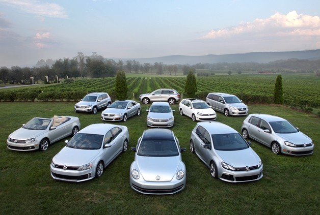 2013 Volkswagen full line parked in field