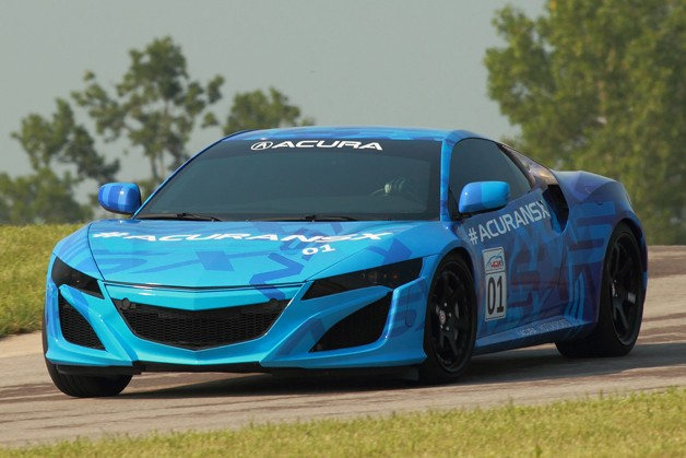 Acura NSX Prototype lapping Mid-Ohio ahead of the Honda Indy 200.