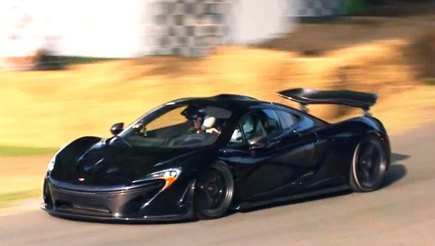 McLaren P1 on the Goodwood Festival of Speed course for the Forza McLaren Ride