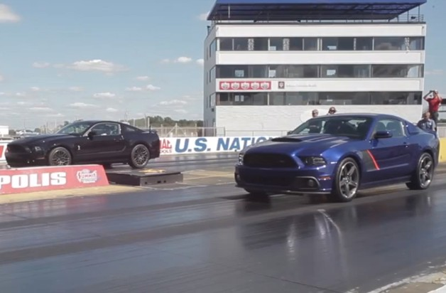Video screencap of Roush Stage 3 vs. Ford Shelby GT500