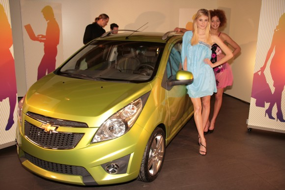 2010 Chevrolet Spark at Geneva airport