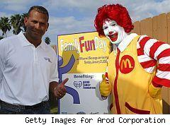 Alex Rodriguez and Ronald McDonald