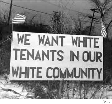Real Estate Firm Puts Up a Sign for 'Whites Only'