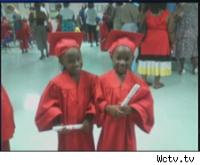 Brandi Peters, 27, and her children, twins Tamiyah and Taniyah Peters