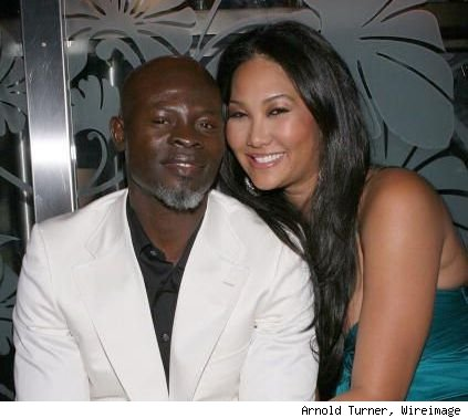 djimon hounsou and kimora lee simmons. Djimon Hounsou amp; Kimora Lee