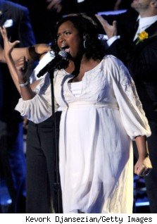 Jennifer Hudson at Michael Jackson Memorial