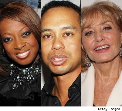 Star Jones/Tiger Woods/Barbara Walters