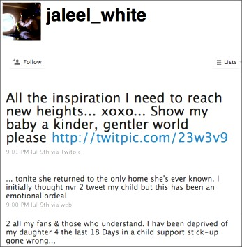 Jaleel White's Twitter Post