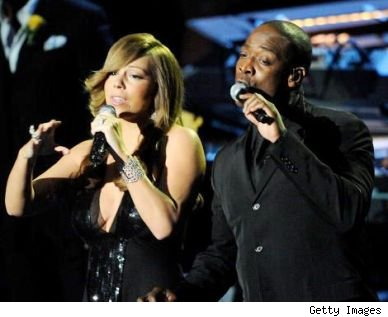 Mariah Carey & Trey Lorenz at Michael Jackson Memorial