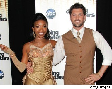 Brandy & Dancing with the Stars partner Maksim Chmerkovskiy