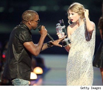 Kanye West attacks Taylor Swift onstage at MTV VMAs