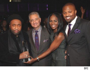 Andrae Crouch with BMI's Del  Bryant, Catherine Brewton & Wardell Malloy