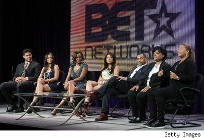 Cast & producers of 'Let's   Stay Together' at BET Upfronts