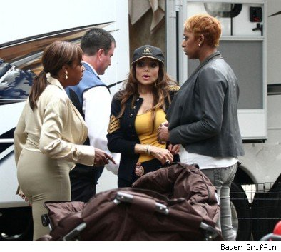 Star Jones, Latoya Jackson & NeNe Leakes on set at 'Celebrity Apprentice'