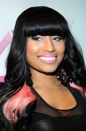 pictures of nicki minaj bald. Blunt bangs, a la Nicki Minaj.