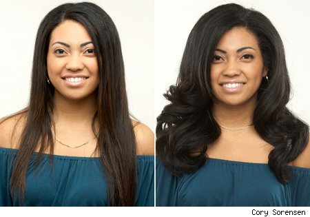 Stacy Trujeque, does in order to straighten her long, textured locks.