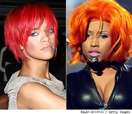 nicki minaj hair color. Nicki Minaj, Keri Hilson