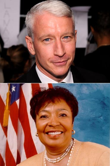 Anderson Cooper and Eddie Bernice Johnson