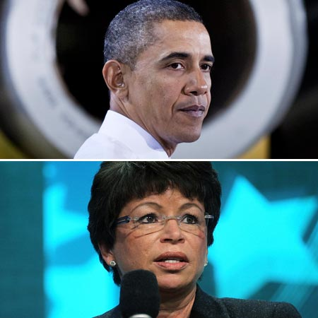 President Obama and Valerie Jarrett
