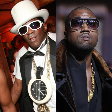 Flavor Flav and Kanye West