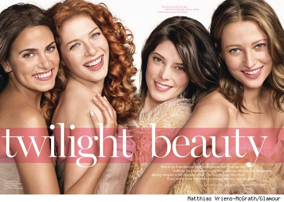 New Moon, Ashley Greene, photo, nude lipstick, bronzer, blush, glamour, Rachelle Lefevre, Noot Seear, Nikki Reed
