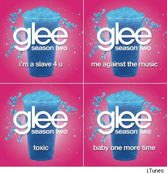 glee music britney spears 'Me Against the Music'