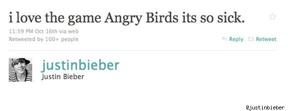 justin bieber angry birds