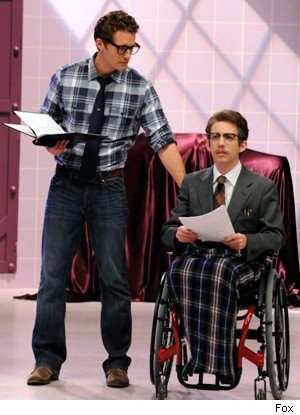 mr. schue and artie rocky horror glee show