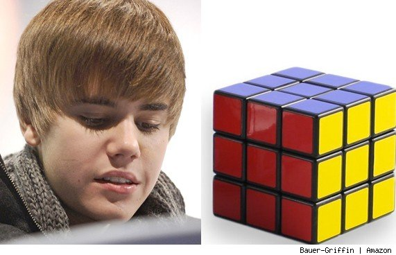 Justin Bieber Solves A Rubiks Cube in One Minute and 23 Seconds