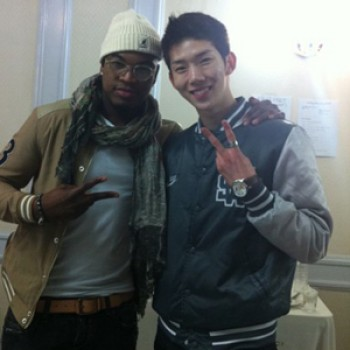 Ne Yo Hangs with Jo Kwon from 2am
