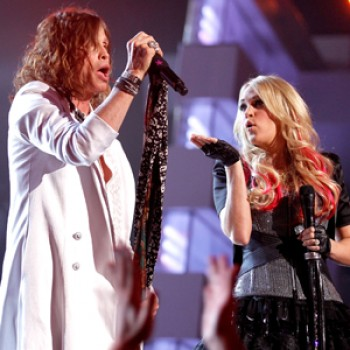 Carrie Underwood Rocks Out with Steven Tyler at the ACMS