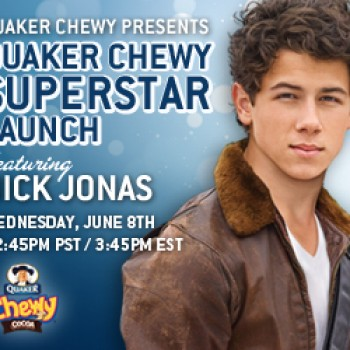 Join Cambio &amp;amp; Nick Jonas Live at the Quaker Chewy Superstar Launch Wednesday
