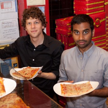Jesse Eisenberg & Aziz Ansari Turn Pizza Boys in California