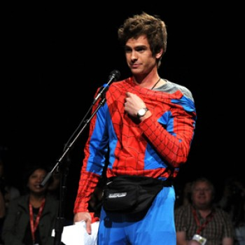 Andrew Garfield Dresses As Spider-Man at Comic Con