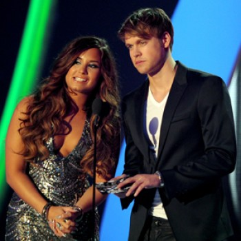 Demi Lovato Hits the Studio with Chord Overstreet