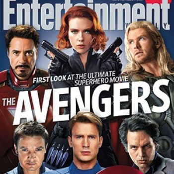 Chris Evans & Scarlett Johansson: 'The Avengers' EW Cover