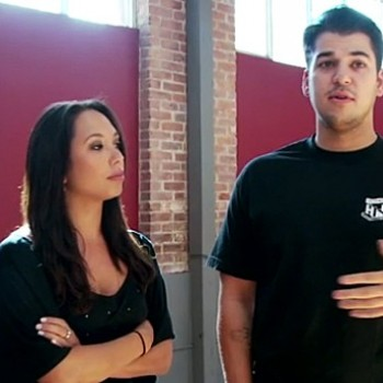 Exclusive: Behind The Scenes With Rob Kardashian During DWTS Rehearsal