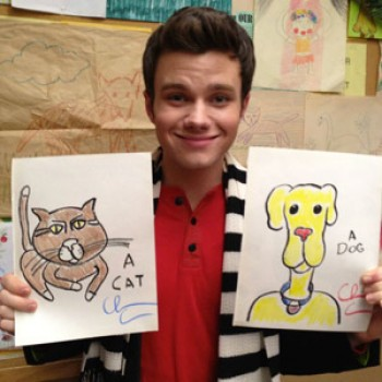 Chris Colfer Auctions Off Hand-Drawn Dog Poster for Labrador Rescuers of San Diego