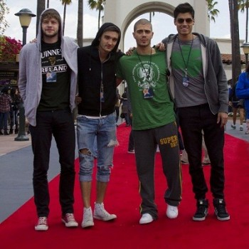Exclusive Pics: The Wanted Get Soaked At Universal Studios