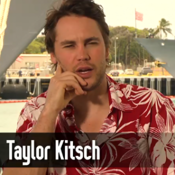 Not All Guys Can Rock a Hawaiian Shirt Like Taylor Kitsch!