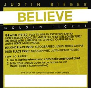 Tickets Justin Bieber on Justin Bieber Announced Details About His Golden Tickets Giveaway With