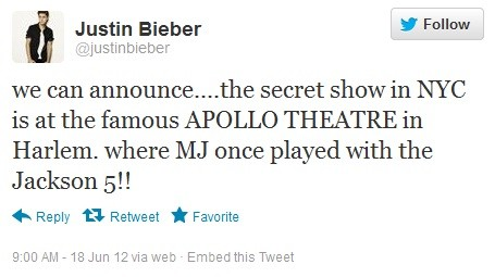 Justin Bieber Tickets on How To Get Tickets To Justin Bieber S Surprise Show At The Apollo On
