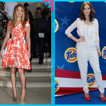 Jennifer Lawrence vs. Katharine McPhee:  Festive July 4th Outfits!